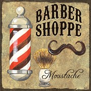 Barber Shoppe 1 Print by Debbie DeWitt