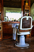 Brown Clipper Framed Prints - Barber - The Barber Chair Framed Print by Paul Ward