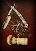 Man Cave Framed Prints - Barber - Tools for a Close Shave  Framed Print by Paul Ward