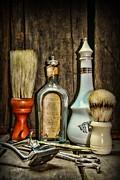 Barber - Vintage Barber Bottles Print by Paul Ward