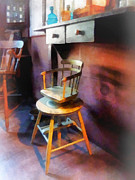 Shadow Art - Barber - Vintage Childs Barber Chair by Susan Savad