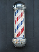 Often Framed Prints - Barbers Pole Framed Print by Shawn Hughes