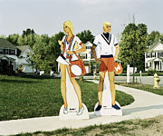 Paper Dolls Framed Prints - Barbie and Ken Perfect Framed Print by Heather Kehoe