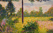 Georges Pierre Posters - Barbizon Forest Poster by Georges Pierre Seurat