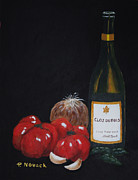 Tomatos Painting Metal Prints - Barbs Italian Sauce Mix Metal Print by Patricia Novack