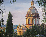 Barcelona Painting Originals - Barcelona - Palau Nacional by Stacy Ingram