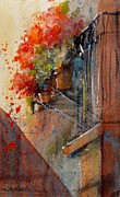 Boxes Paintings - Barcelona Blooms by Sandra Strohschein
