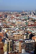 Barcelona Cityscape  Print by Sophie Vigneault