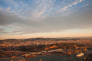 Jenny Rainbow - Barcelona on Sunrise. Aerial View