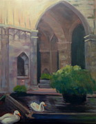 Barcelona Painting Originals - Barcelona Quiet Time by Linda Scott