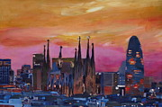 M Bleichner - Barcelona Skyline with...