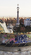 Parc Guell Art - Barcelona View from Parc Guell by Freya Holdsworth