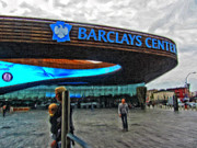 Nba Digital Art Posters - Barclays Center Brooklyn Poster by Nishanth Gopinathan