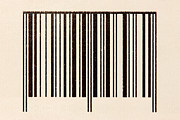 Identification Symbol Framed Prints - Barcode on the cardboard Framed Print by G J