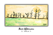 Bare Trees Mixed Media Metal Prints - Bare Afternoon Metal Print by A Luella K