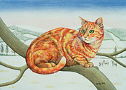 Cool Cats Paintings - Bare Branches by Ditz