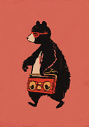 Radio Framed Prints - Bare necessity Framed Print by Budi Satria Kwan