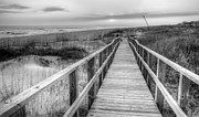 Wrightsville Prints - Barefoot BW Print by JC Findley