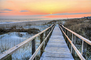 Orange Beach Prints - Barefoot Print by JC Findley