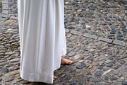 Pentecost Photos - Barefoot penitent in the procession by Blanchi Costela