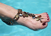 Featured Jewelry - Barefoot Sandals 1 by Karen Devonne Douglas