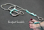 Featured Jewelry - Barefoot Sandals 4 by Karen Devonne Douglas