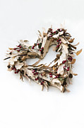 Sprigs Prints - Bark Heart Print by Anne Gilbert