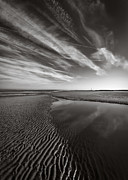 Monochrome Prints - Barkby Beach I Print by David Bowman