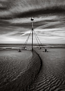 Marker Metal Prints - Barkby Beach II Metal Print by David Bowman