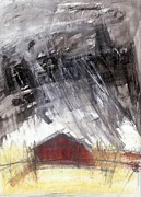 Prairie Mixed Media - Barn by A K Dayton