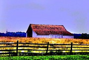 Amish Scenes Prints - Barn Print by Annie Zeno