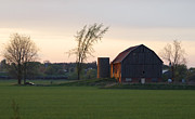 David Porteus - Barn at Dusk