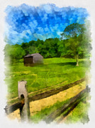 Pittsburgh Digital Art Framed Prints - Barn at Hartwood Acres Framed Print by Amy Cicconi