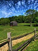 Cloudscape Prints - Barn at Hartwood Acres Under Beautiful Sky Print by Amy Cicconi