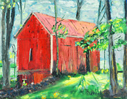 New Jersey Painting Originals - Barn at Walpack by Michael Daniels