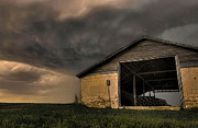 Barn Storm Framed Prints - Barn Burner Framed Print by Zach  Roberts