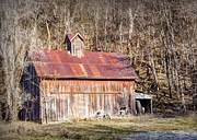 Cupula Prints - Barn by the Bluffs Print by Cricket Hackmann
