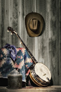 Banjo Prints - Barn Dance Hoe Down Print by Tom Mc Nemar