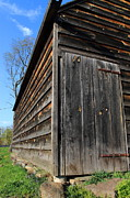 Blue Bricks Photos - Barn Door by Frank Romeo