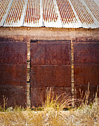Sliding Doors Posters - Barn Door Picture Poster by Julie Magers Soulen