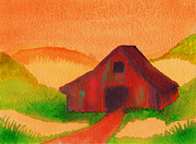 Old Barn Paintings - Barn Down The Lane by Andre Sorrelle