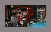 Bad Ass Metal Prints - Barn find 1934 Ford 5 window coupe Metal Print by Jack Pumphrey