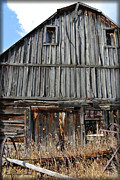 Wooden Structure Framed Prints - Barn in Decline Framed Print by Kae Cheatham