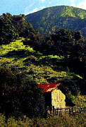 Red Roof Prints - Barn in Grimes Canyon Print by Ron Regalado