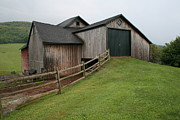 Split Rail Fence Photos - Barn in the Catskills by Karen Anderson