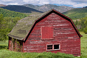 Ron Pettitt Prints - Barn in the Mountains Print by Ron Pettitt