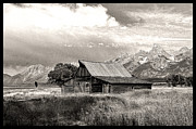 Barn Storm Prints - Barn in the Tetons Print by Robert Kleppin