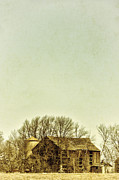 Wooden Building Posters - Barn in the Woods Poster by Margie Hurwich