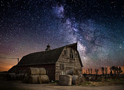 Night Landscape Framed Prints - Barn IV Framed Print by Aaron J Groen