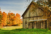Photos Of Autumn Prints - Barn on Colvin hill Print by Jeff Folger